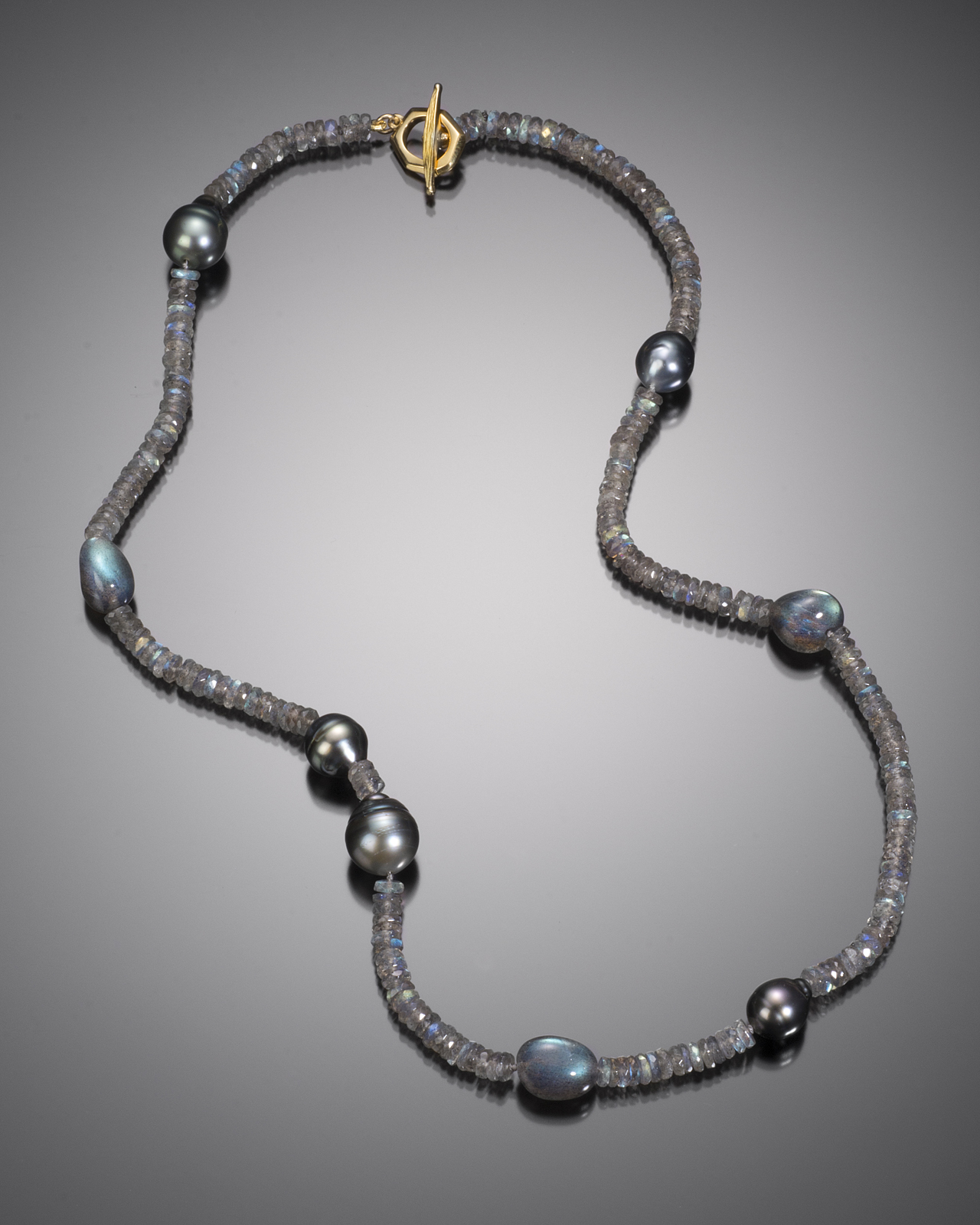 Kairos Necklace: Labradorite And Tahitian Pearl Necklace